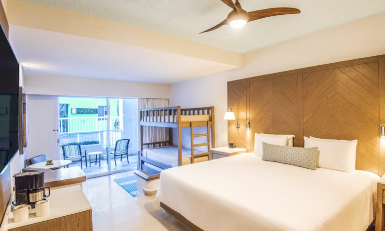 A family junior suite at Panama Jack Resorts Cancun
