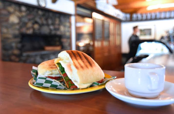 Breakfast sammy at the Buffalo Mountain Cafe at Buffalo Mountain Lodge